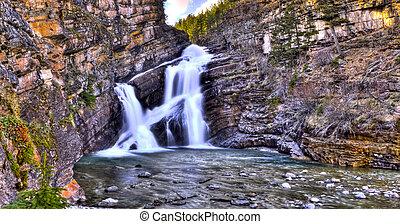 Cameron Falls in Waterton National Park