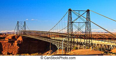 Cameron Suspension Bridge, built 1911, spans the Little...