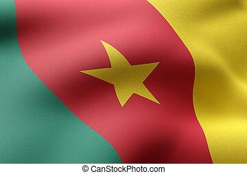 Cameroon 3d flag