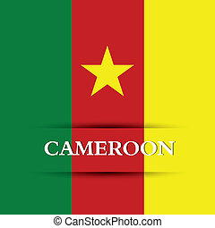 Cameroon - cameroon text on special allusive flag background