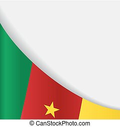 Cameroon flag background. Vector illustration. - Cameroon...