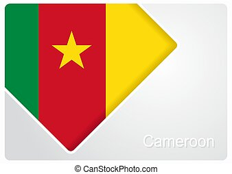Cameroon flag design background. Vector illustration. -...