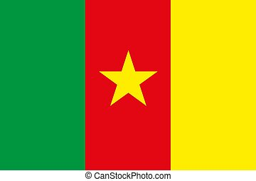 Cameroon flag Flat vector illustration EPS10