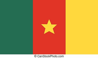 cameroon Flag for Independence Day and infographic Vector illustration.
