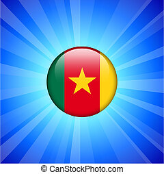 Cameroon Flag Icon on Internet Button