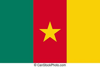 Cameroon flag, official colors and proportion correctly.