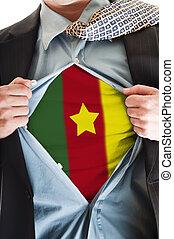 Cameroon flag on shirt