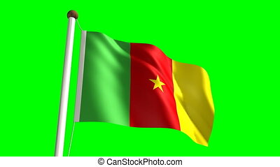 Cameroon flag (seamless & green screen)