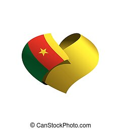 Cameroon flag, vector illustration