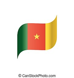 Cameroon flag, vector illustration on a white background