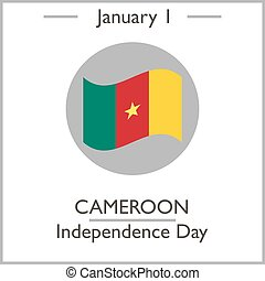 Cameroon Independence Day. January 1. Vector illustration...