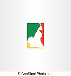 cameroon logo map icon vector