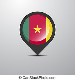 Cameroon Map Pin