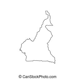 Cameroon map silhouette