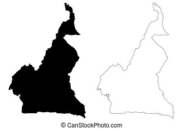 Cameroon map vector