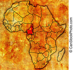 cameroon on actual map of africa