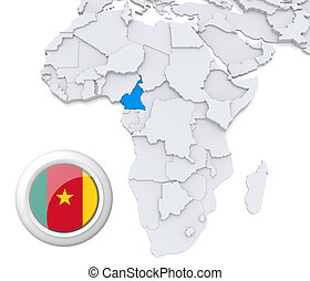 Cameroon on Africa map