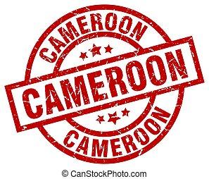 Cameroon red round grunge stamp