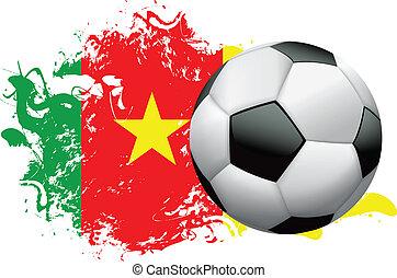 Cameroon Soccer Grunge Design