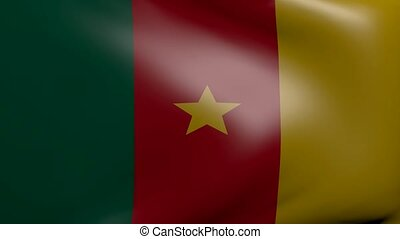 cameroon strong wind flag