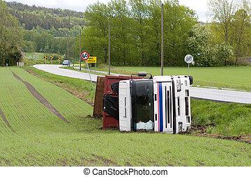 camión, accidente