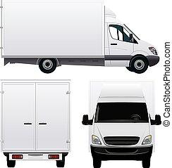 camión, carga