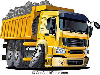 camión, caricatura, basurero