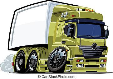 camión, caricatura