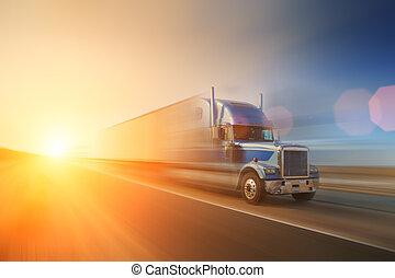 camión, carretera