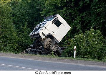 camión, choque