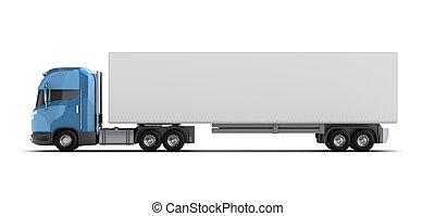 camión, contenedor, aislado