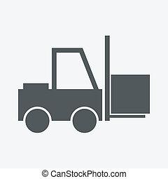 camión de elevador de carga, icono