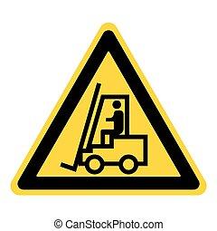 camión de elevador de carga, señal