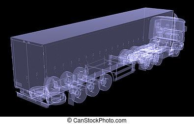 camión grande, tractor
