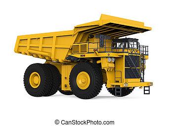 camión minero, amarillo