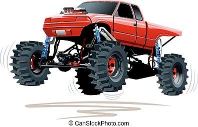 camión, monstruo