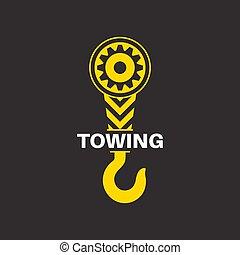 camión, remolque, icono