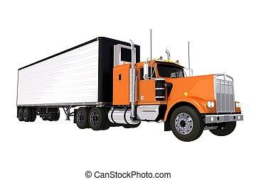 camión, remolque