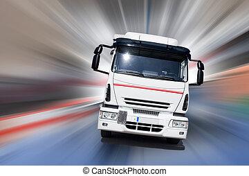 camión, velocidad