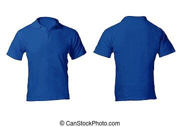 camicia blu, uomini, sagoma, vuoto, polo