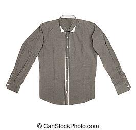 camicia, fondo, isolato, bianco