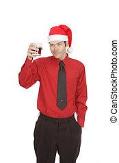 camicia, impiegato, cravatta, festa, vacanza, vestire