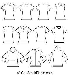 camicie, femmina, sagoma