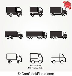 caminhão, ícones
