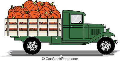 caminhão, abóbora