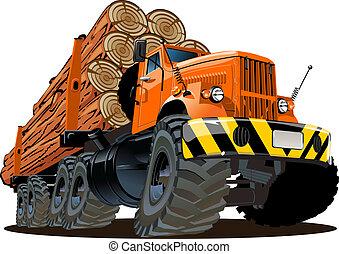 caminhão anotando, caricatura
