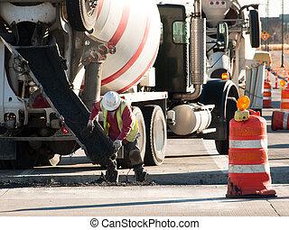 caminhão, betoneira