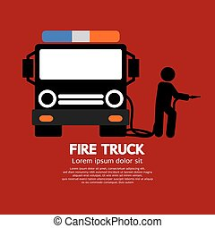 caminhão bombeiros, man.