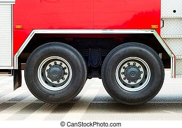 caminhão bombeiros, parcial