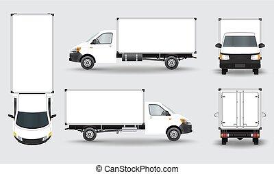 caminhão carga, furgão